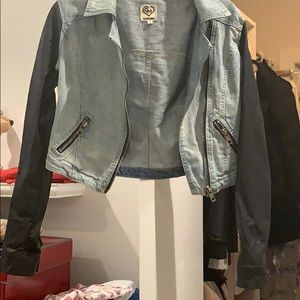 Leather and Jean jacket